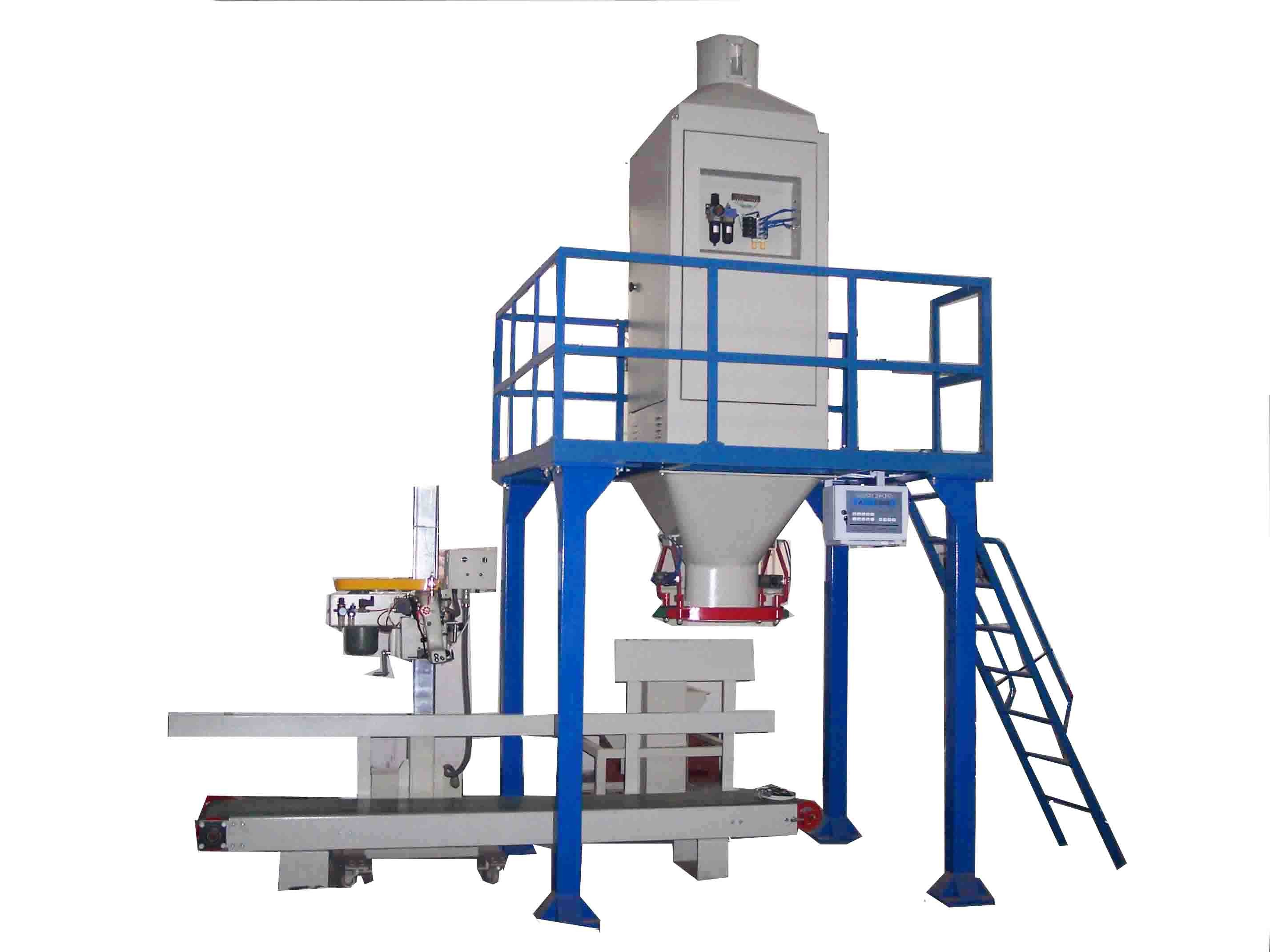 Soybean / Wheat Pellet Bagger Bag Packaging Equipment With Auto Bag Sewing